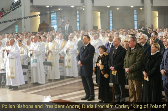 Polish Bishops with President and Prime Minister Proclaim Jesus Christ King of Poland